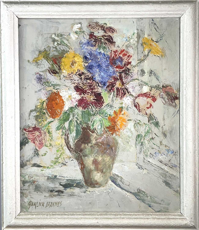 Garlick BARNES (1891-1987)Vase of FlowersOil on canvas Signed 60 x 50cm Garlick Barnes 1891-1987 - Image 3 of 3