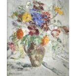 Garlick BARNES (1891-1987)Vase of FlowersOil on canvas Signed 60 x 50cm Garlick Barnes 1891-1987