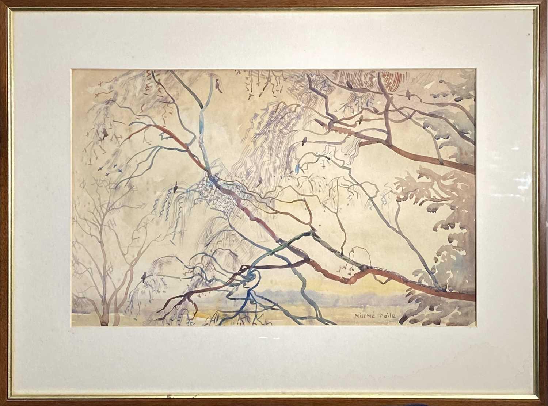Misomé PEILE (1907-1989)Riverside Willow Watercolour Signed 32.5 x 51cm - Image 2 of 2