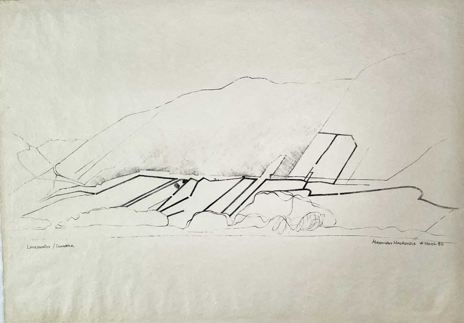 Alexander MACKENZIE (1923-2002) Loweswater, Cumbria Pencil drawing Signed, inscribed and dated 14