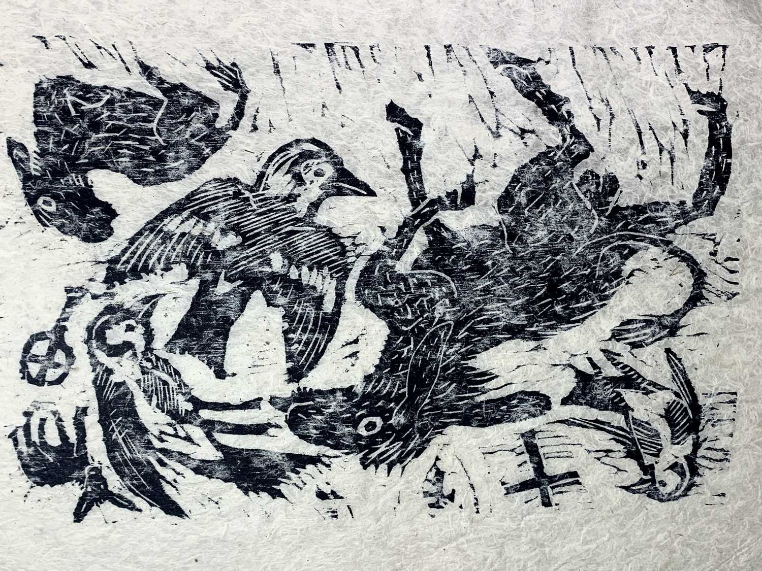 Andrew WADDINGTON God and Goddess A limited edition of four woodcuts 1990 Together in the Hendra - Image 5 of 9