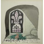 Paul HOGARTH (1917-2001)St Protus & Hyacinth - Blisland, Cornwall Watercolour Signed and inscribed