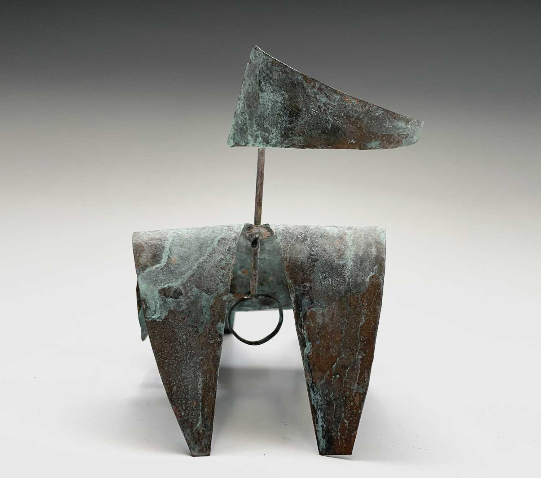 William BLACK (20th Century British)Reclining Figure I Oxidised copper sculpture Signed, inscribed - Image 8 of 8