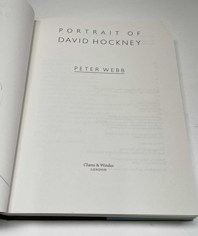 Three David Hockney publications: Portrait of David Hockney, Peter Webb, first edition 1988, - Image 4 of 7