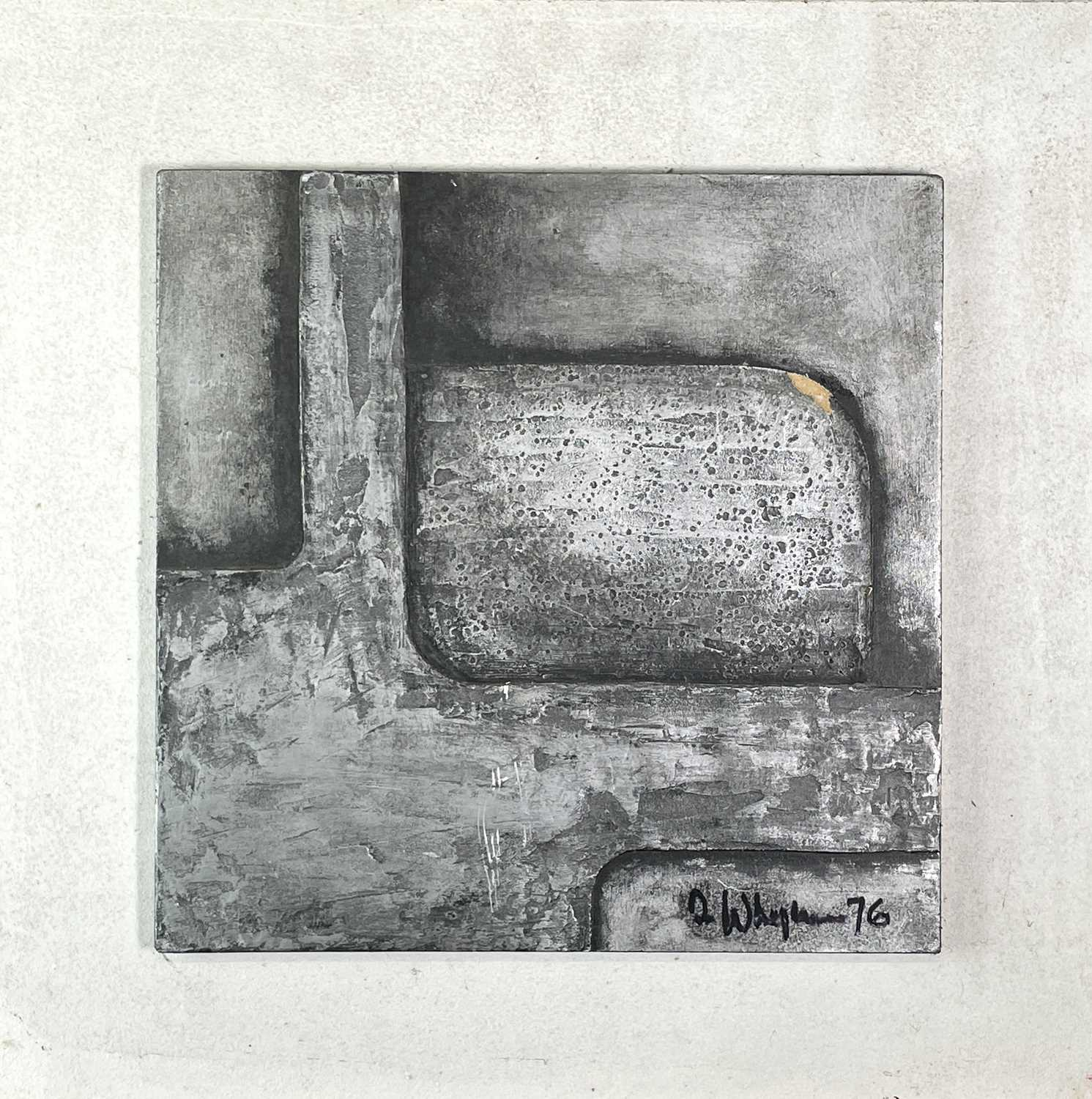 Terry WHYBROW (1932-2020)Untitled, ReliefMixed media, silveredSigned and dated '7633x34cm together - Image 5 of 8