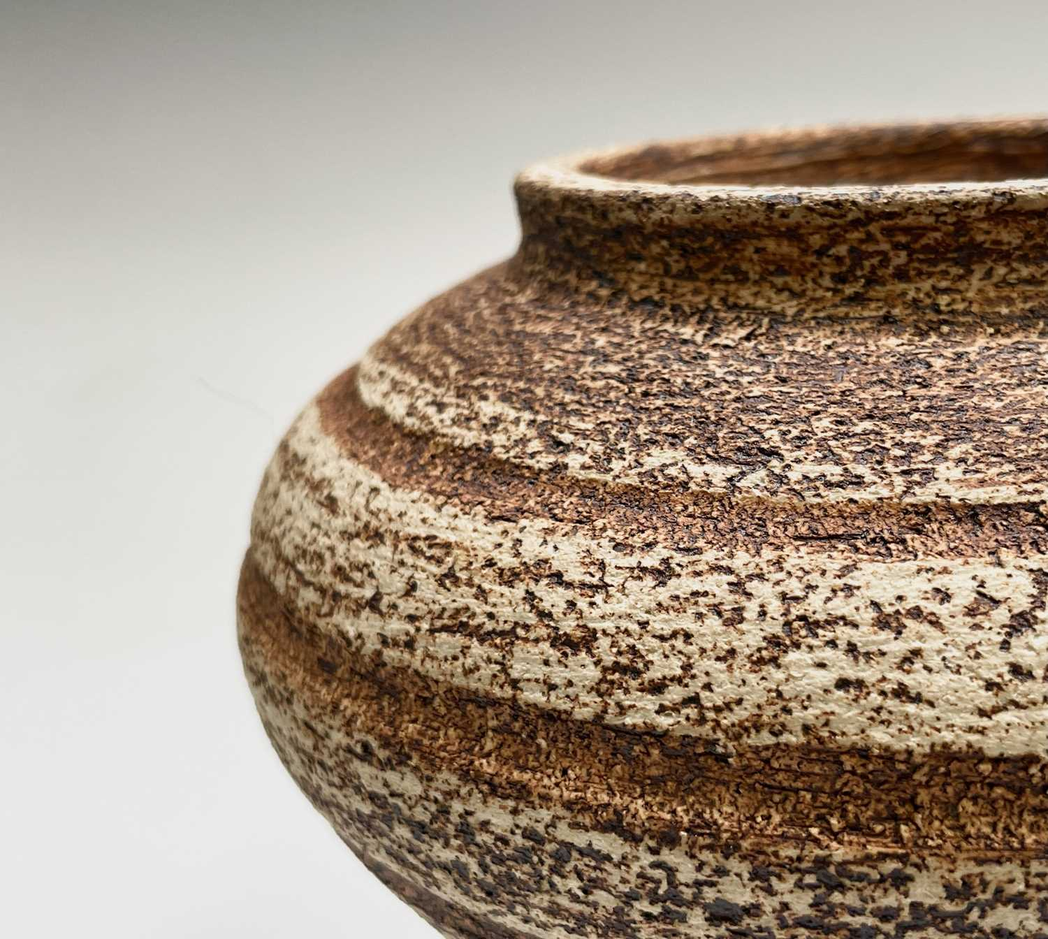 Waistel COOPER (1923-2003) Squat Form Vase with banded decoration and textured glaze Signed to - Image 5 of 9