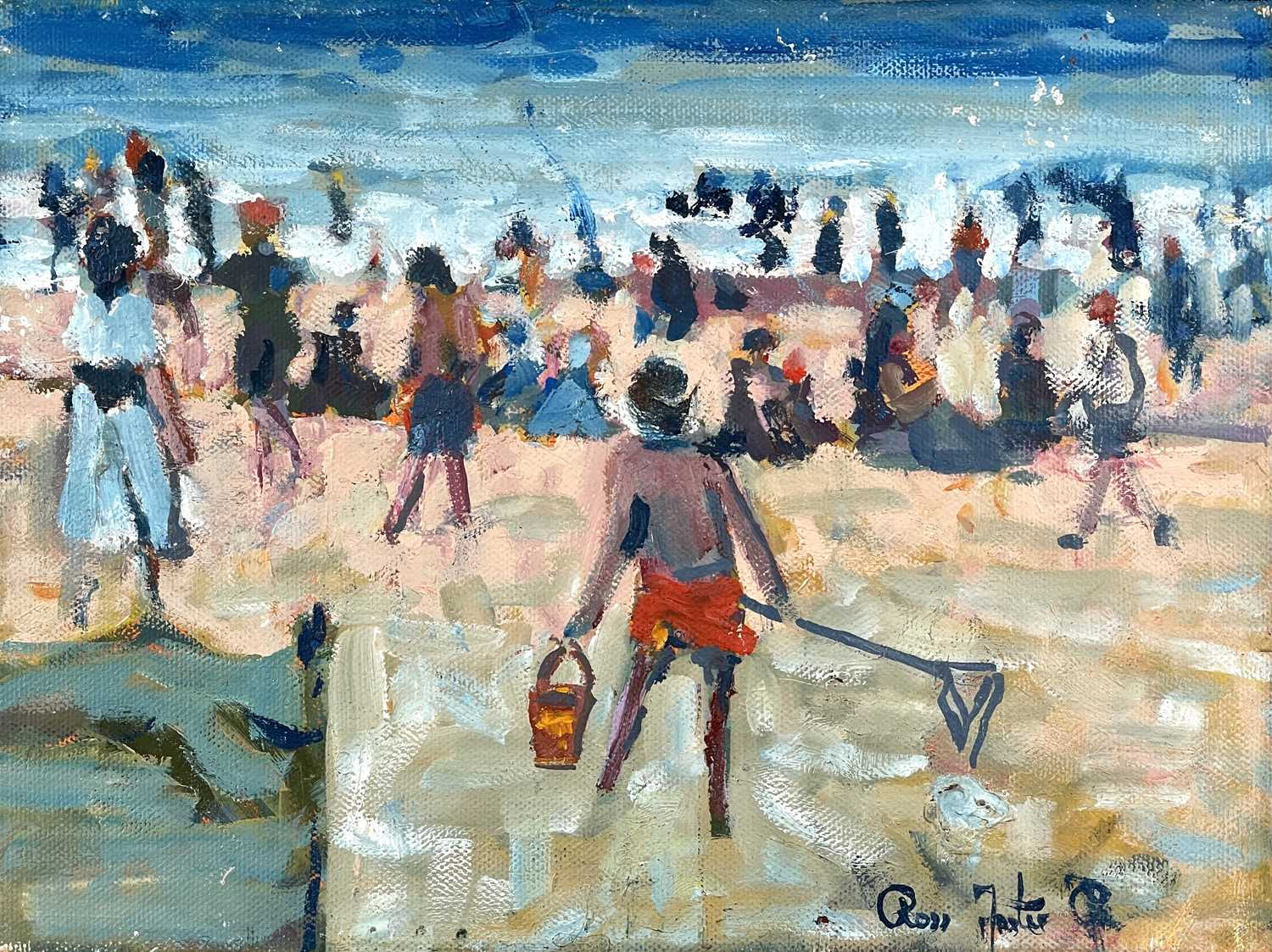 Ross FOSTER (XX-XXI)At the Beach Two oils on canvas Each signed 20.5 x 25.5cm23 x 30.5cm - Image 5 of 5