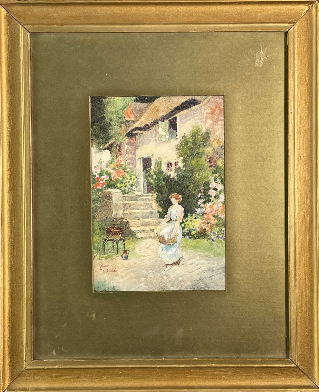 Mason RHEAD (XIX) The Washer-Girl Signed 23.5x16cm - Image 3 of 3