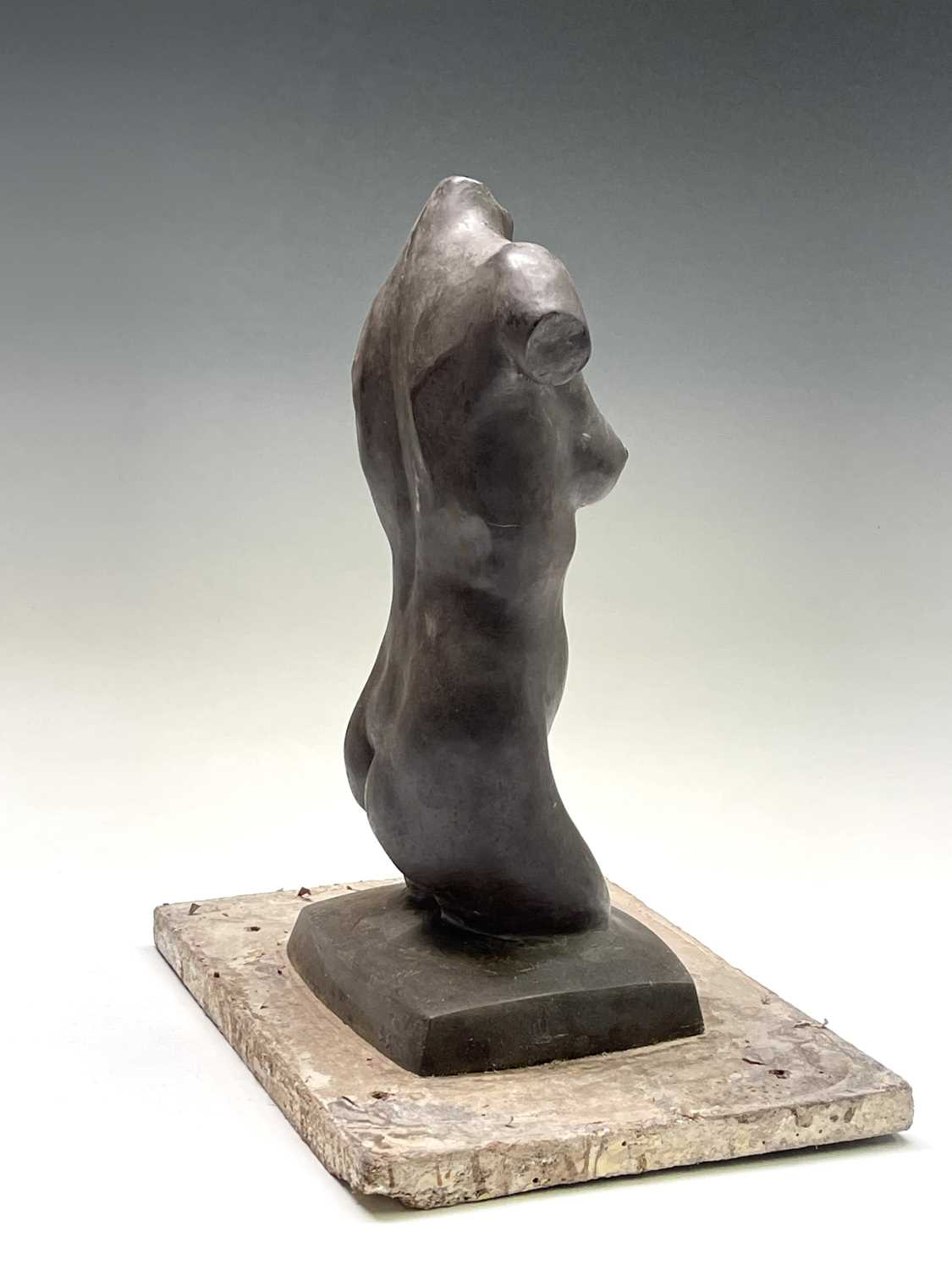 Alec WILES (1924)Female Torso Bronze resin sculpture Signed Height 30cm - Image 3 of 9