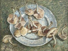 Garlick BARNES (1891-1987)Still Life - Mushrooms Oil on boardSigned 30 x 39cm Garlick Barnes 1891-
