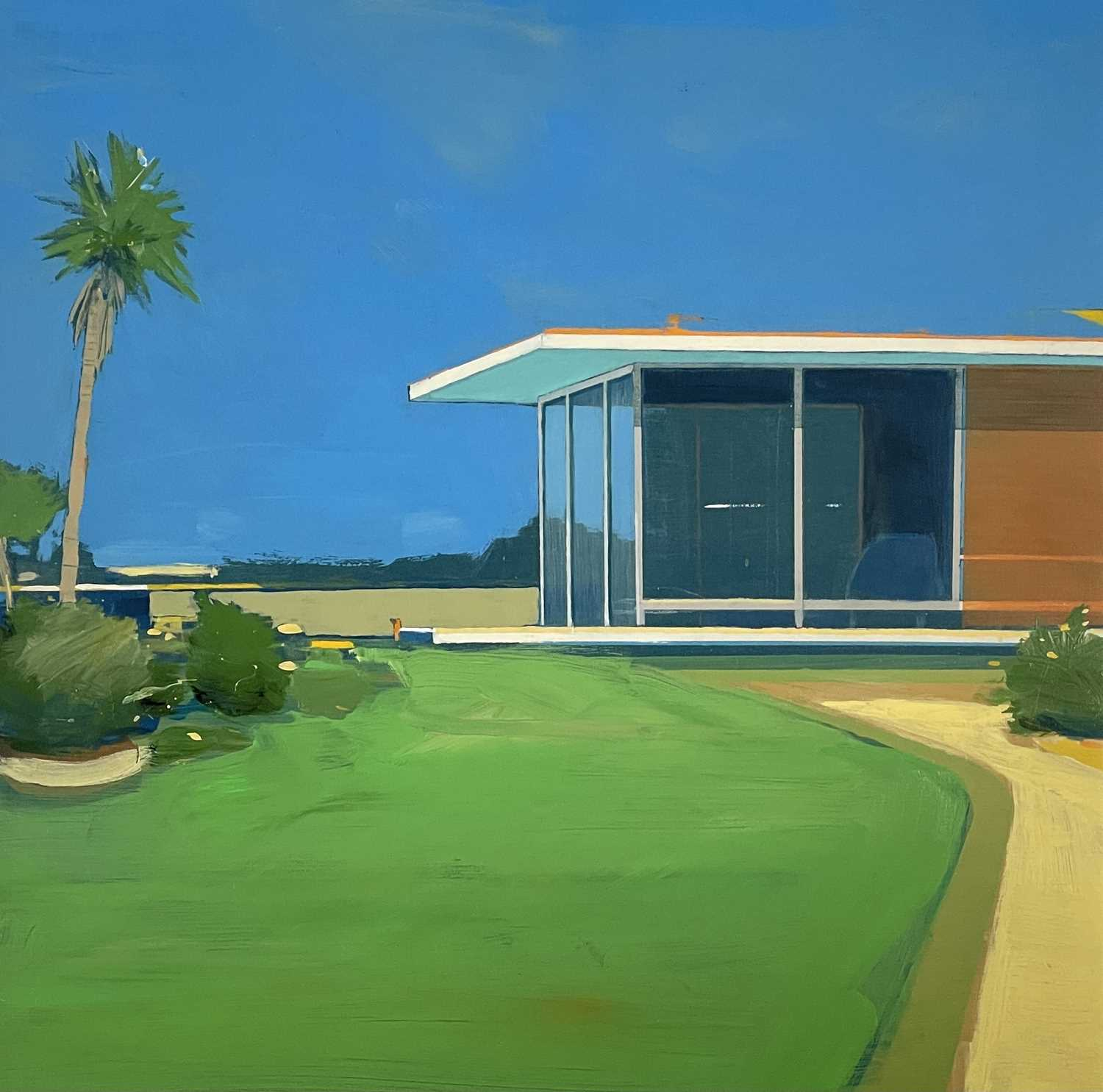 Alasdair LINDSAY (XX-XXI)Holiday Home Acrylic on board Signed, inscribed and dated 2005 to verso43 x