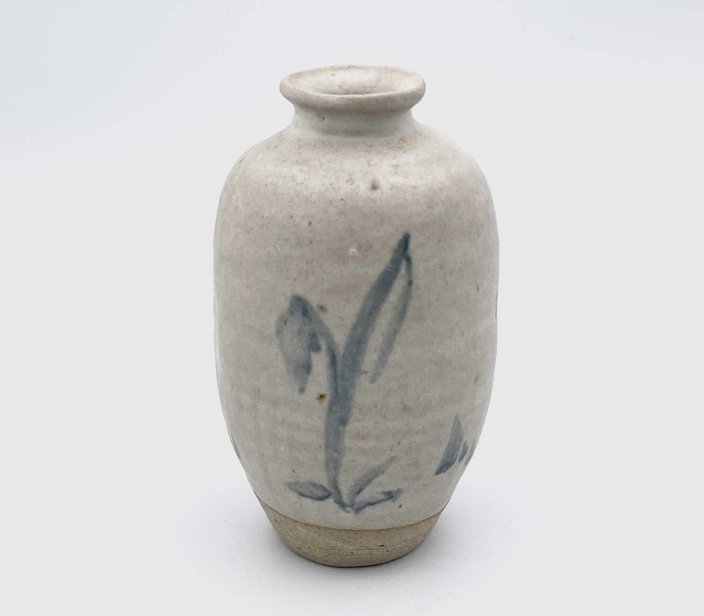 Katharine PLEYDELL-BOUVERIE (1895-1985) An ovoid bottle vase, blue brushwork decorated with - Image 5 of 7
