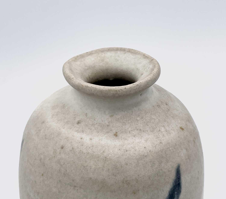 Katharine PLEYDELL-BOUVERIE (1895-1985) An ovoid bottle vase, blue brushwork decorated with - Image 4 of 7