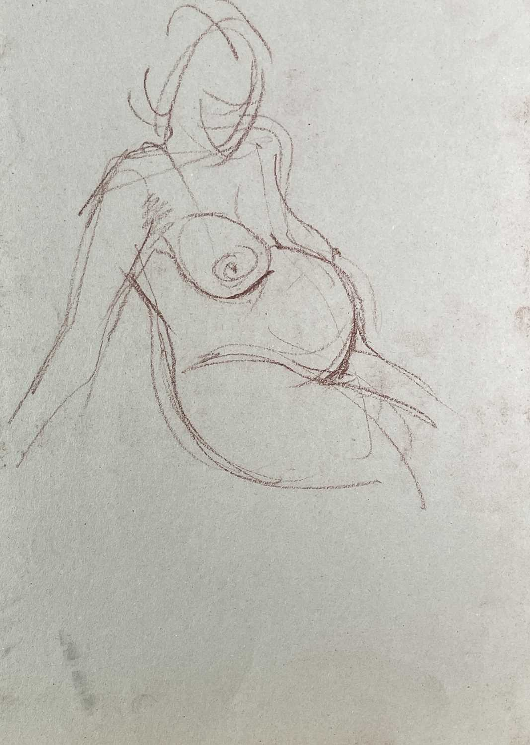 Alec WILES (1924) Nude drawings A collection of twenty Mostly signed Mostly 63x42 - Image 13 of 17