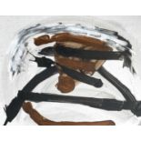 Trevor BELL (1930-2017)Fell Acrylic on card Signed, inscribed and dated '6250.7 x 63.4cmCondition