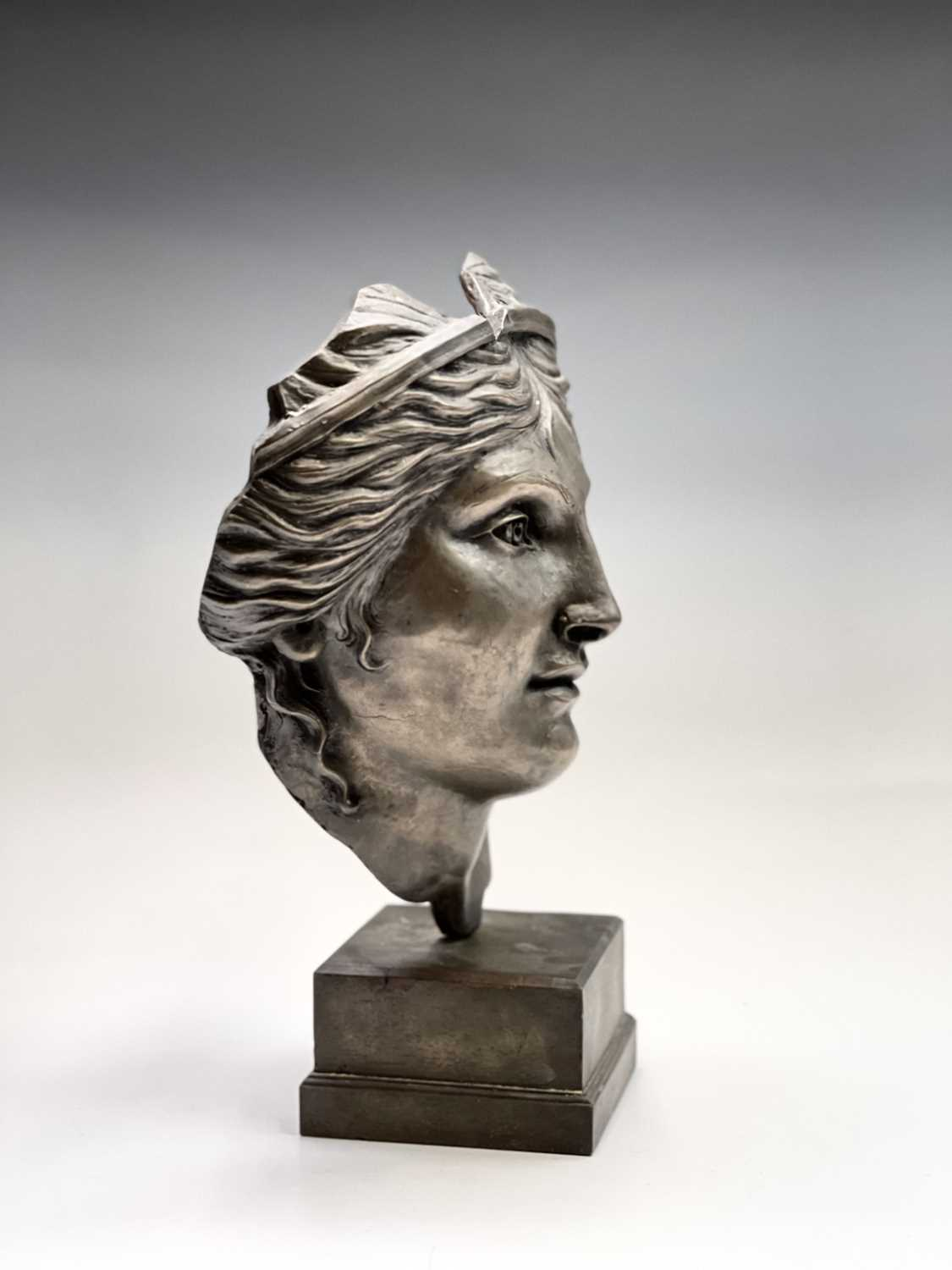 Alec WILES (1924)Aphrodite Bronzed resin mask and plinth Height 35cm - Image 7 of 8