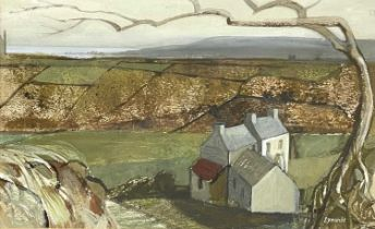 Ken SYMONDS (1927-2010)Hilltop West Penwith Gouache Signed Further signed, inscribed and dated