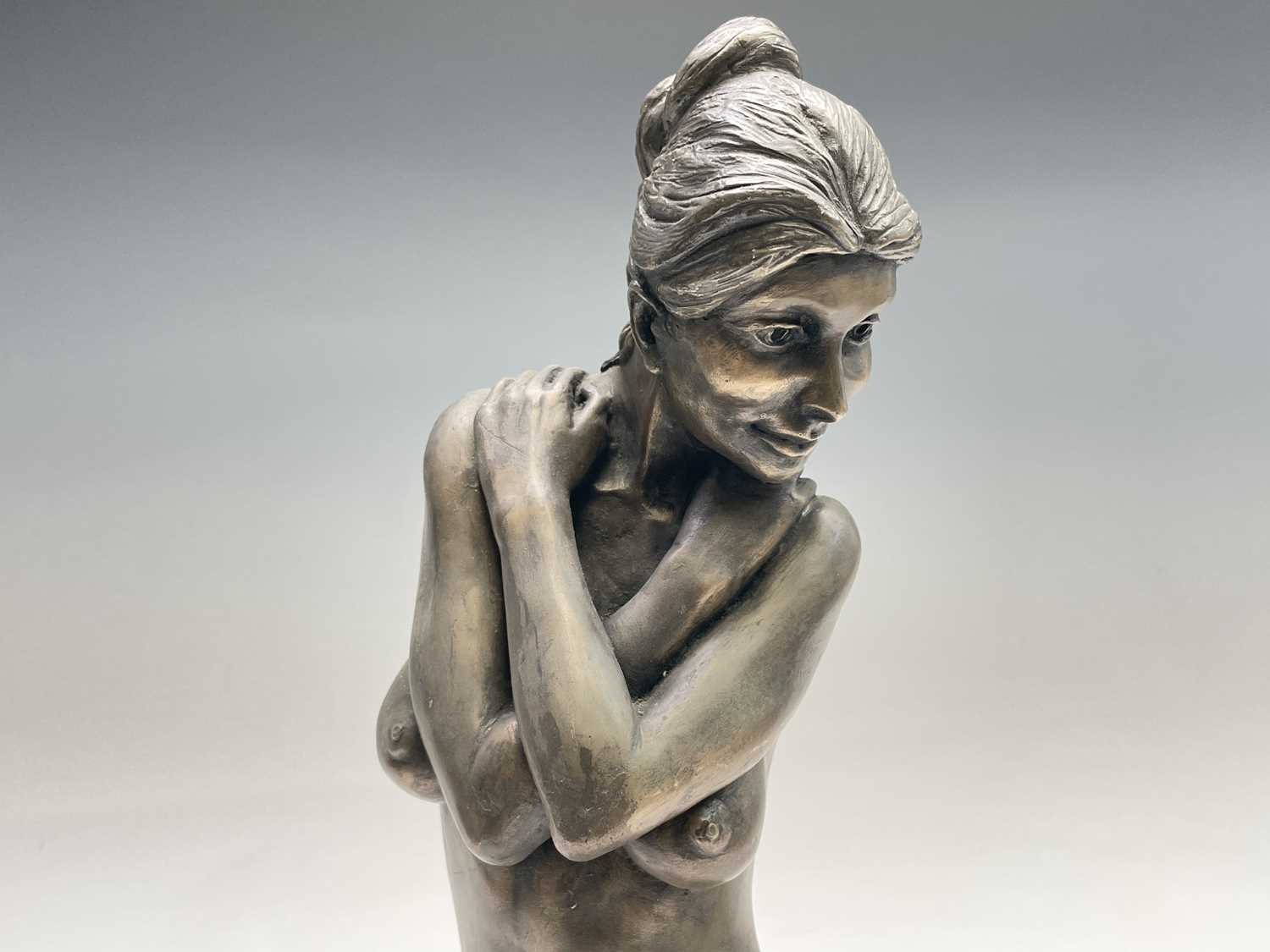 Alec WILES (1924)Female Form Bronzed resin sculpture Signed Height 36.5cm - Image 2 of 11