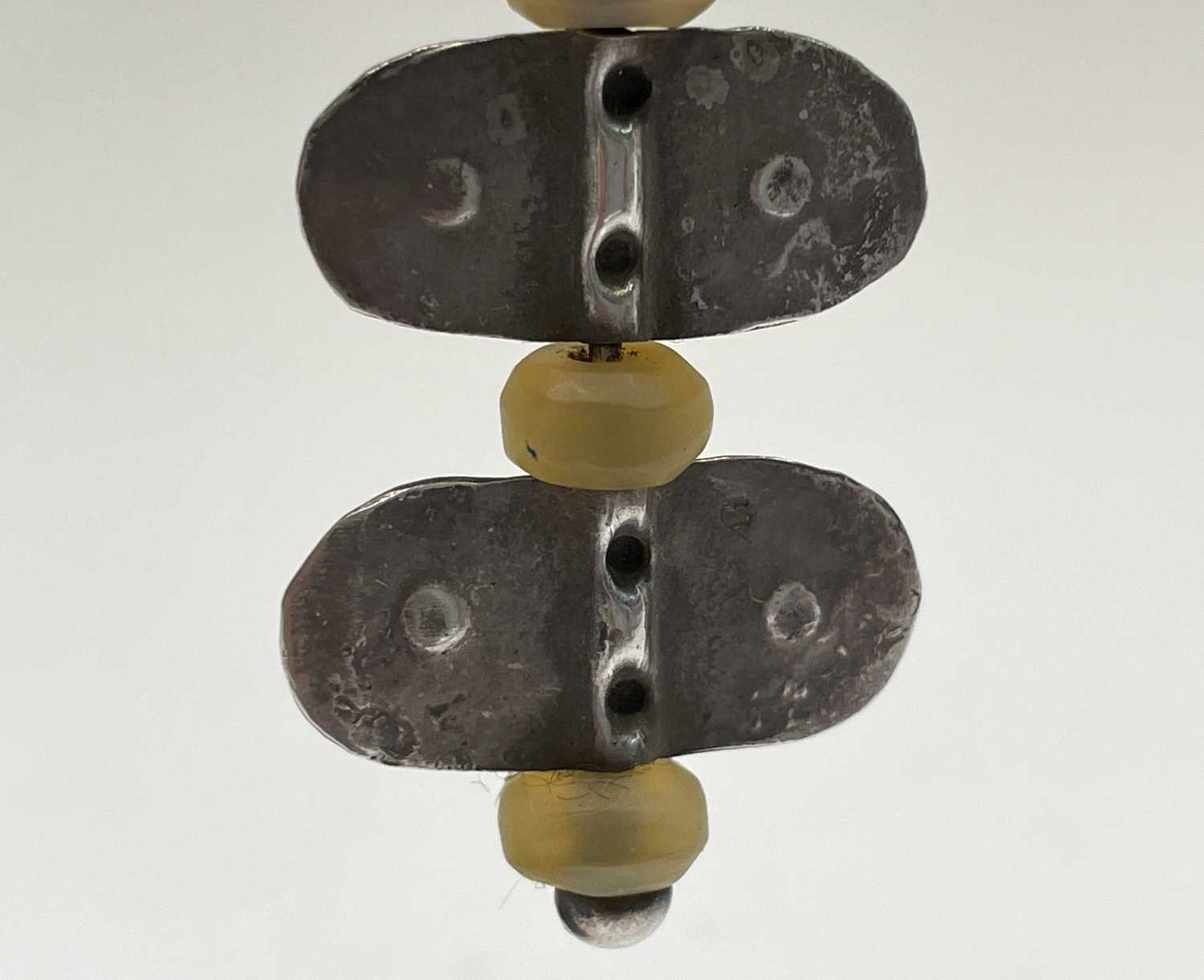 A pair of stone bead and silver Guy Royle earrings, length 6cm. - Image 8 of 10