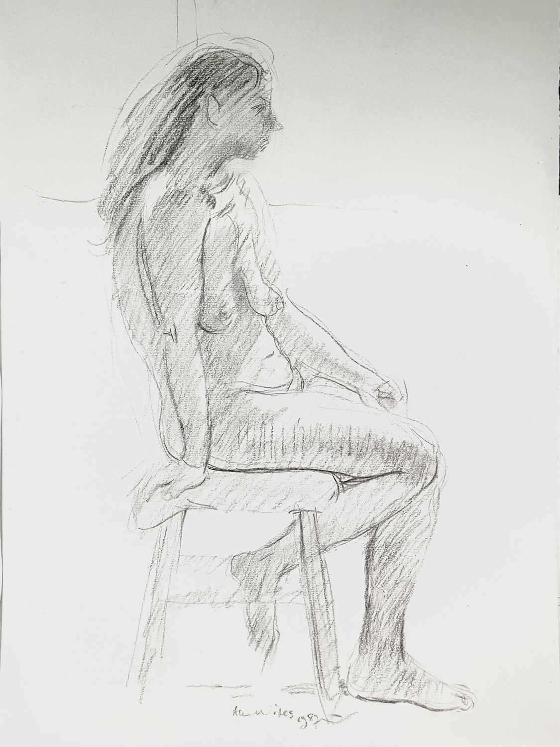 Alec WILES (1924) Nude drawings A collection of thirteen Mostly signed Mostly 60x42 Together with - Image 10 of 46