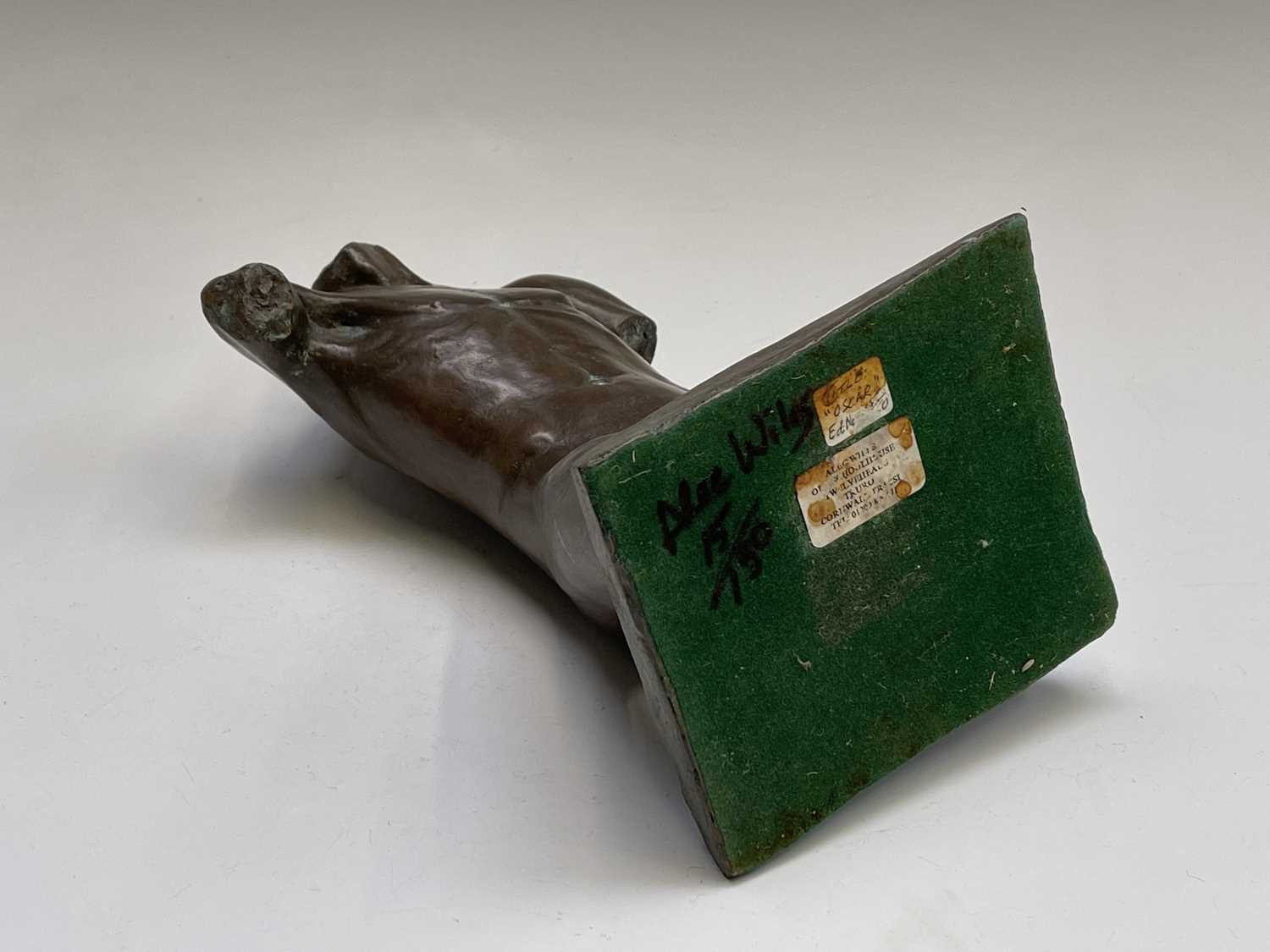 Alec WILES (1924)Males Torso Bronzed resin sculpture Signed and dated 1995Height 27cm - Image 9 of 10