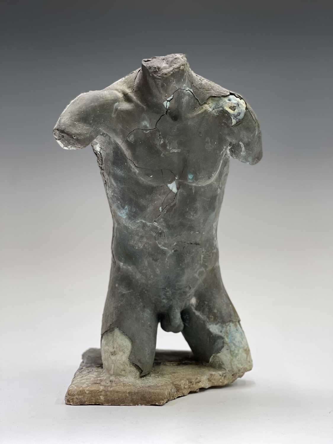 Alec WILES (1924)Males Torso Plaster and resin sculpture Signed Height 31cm - Image 4 of 13