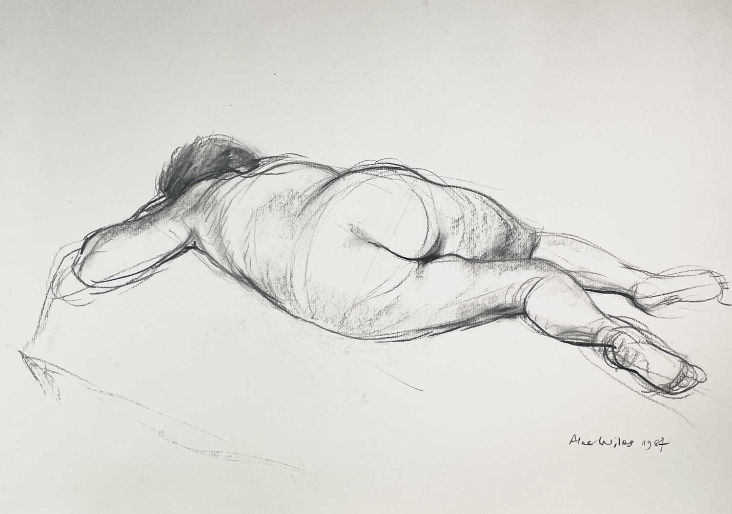 Alec WILES (1924) Nude drawings A collection of thirteen Mostly signed Mostly 60x42 Together with - Image 20 of 46