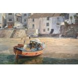 Nancy BAILEY (1913-2012)Ebbing Tide, St Ives Oil on canvas Signed Inscribed to verso 61 x 91cm