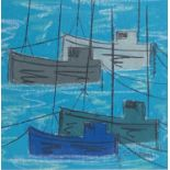 Stephen FELSTEAD (1957)Moored in NewlynPastelSignedFurther signed, inscribed and dated 2020 to