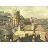 Eileen IZARDSt Ives RooftopsOil on canvas Signed 31 x 41cm