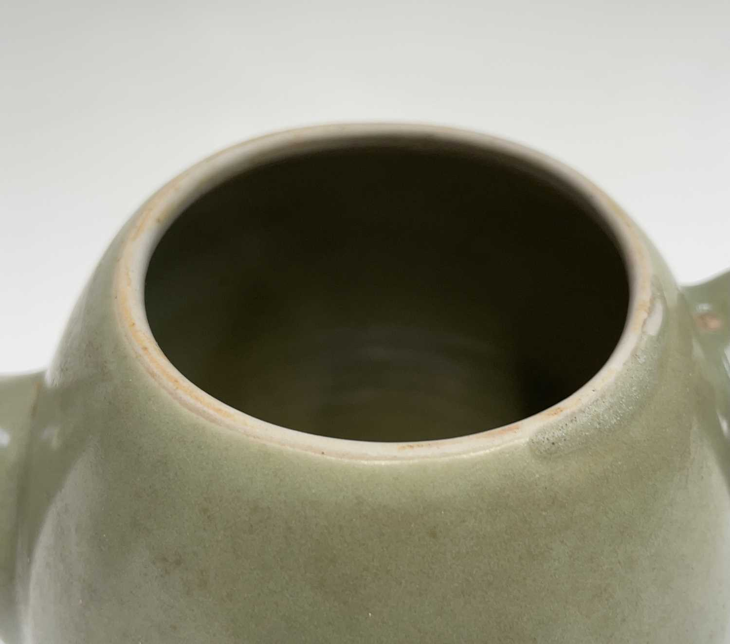A Leach Pottery, St Ives, celadon glazed teapot, height 14cm, with impressed Leach seal and initials - Image 3 of 11