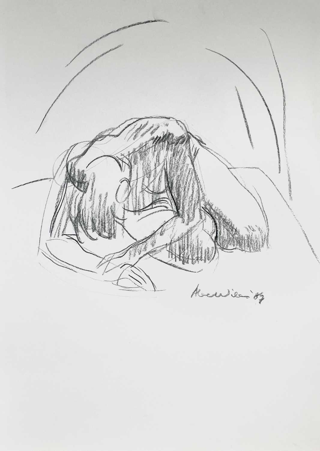 Alec WILES (1924) Nude drawings A collection of thirteen Mostly signed Mostly 60x42 Together with - Image 8 of 46