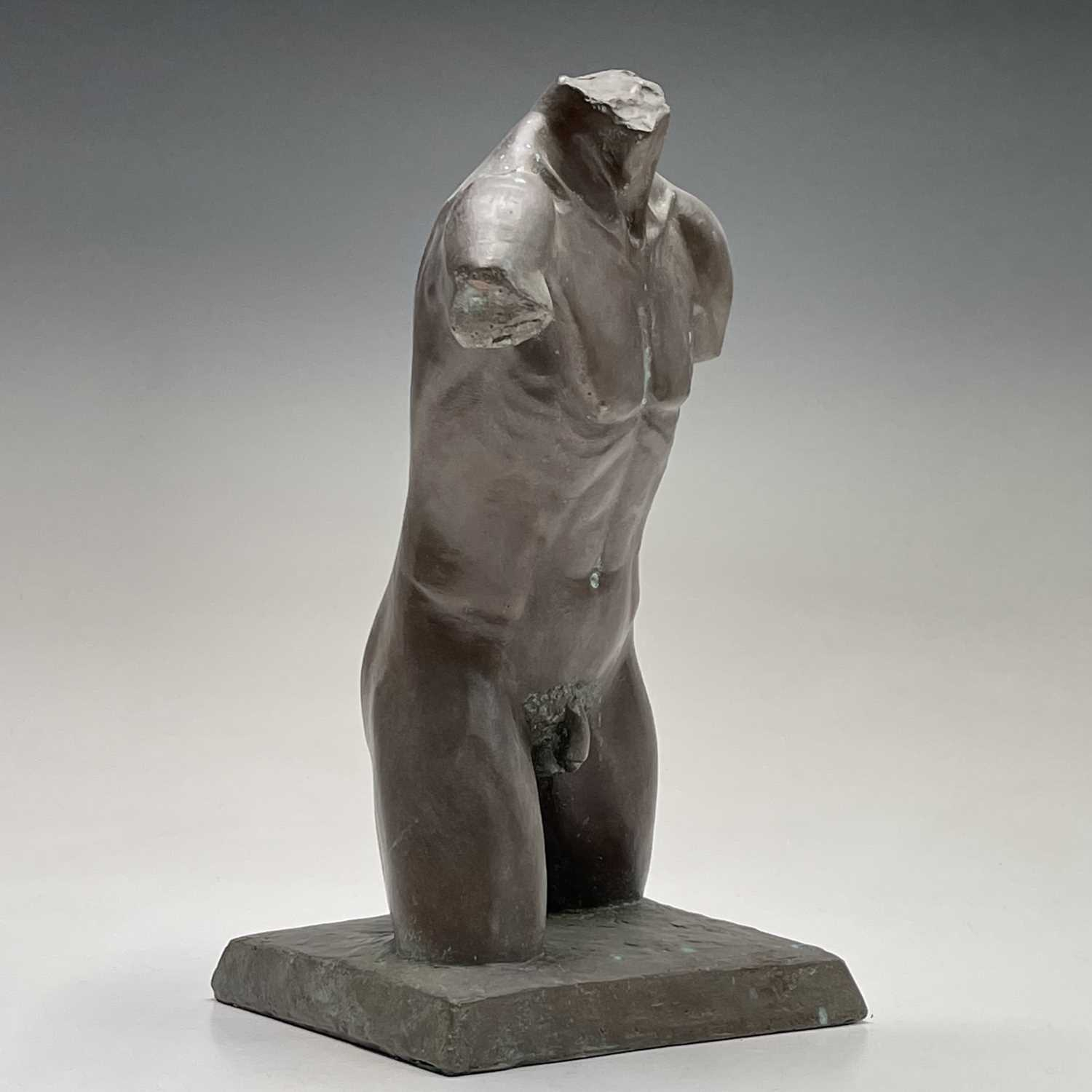 Alec WILES (1924)Males Torso Bronzed resin sculpture Signed and dated 1995Height 27cm - Image 4 of 10