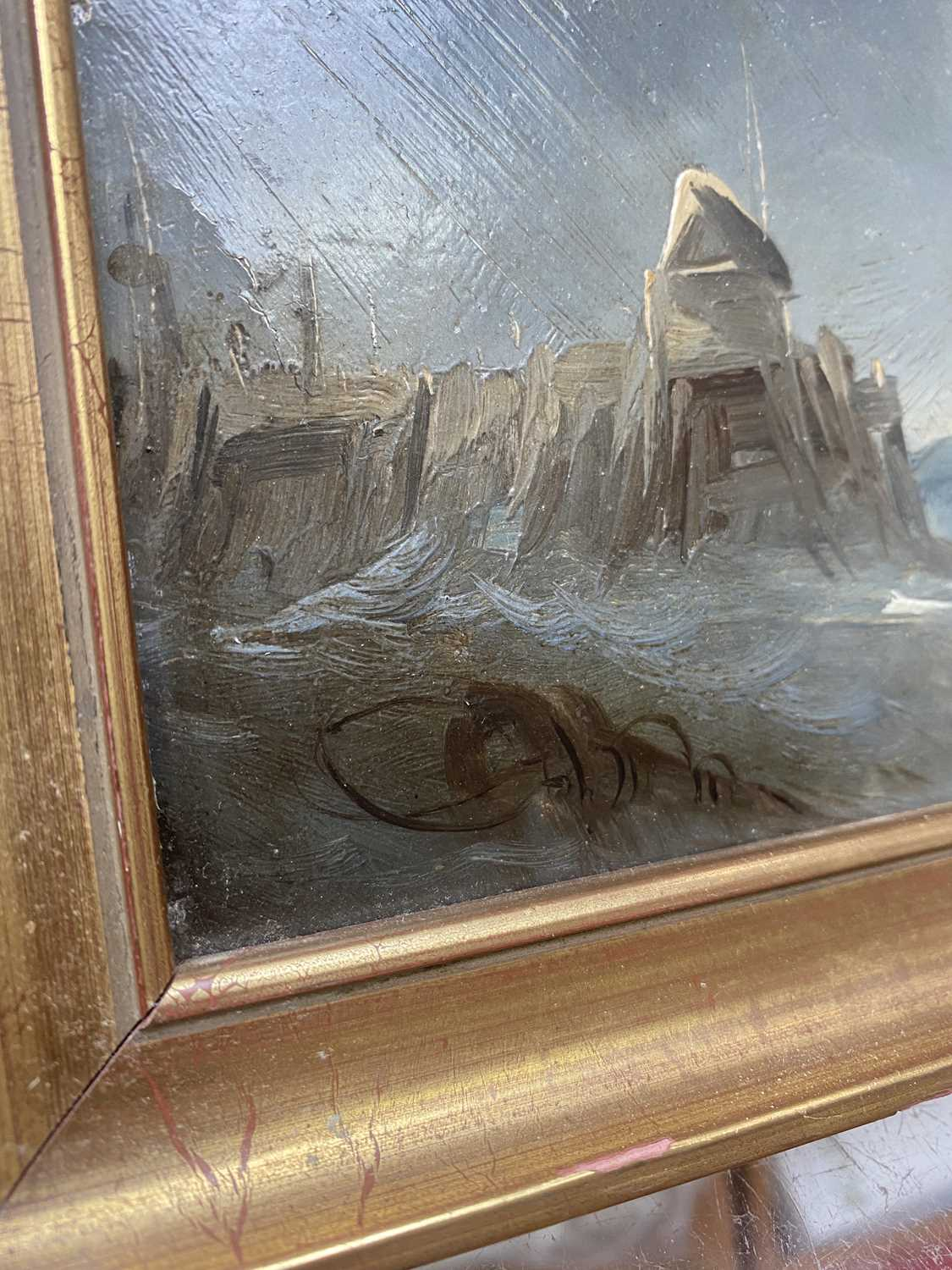 Charles TAYLOR (act.1836-1871) A Hulk Adrift Watercolour Signed 21.5x48cm Together with a small - Image 11 of 12
