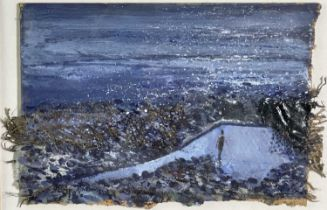 Kurt JACKSON (1961)The Pool at Cape CornwallMixed media Signed and indistinctly dated '93?12 x 18.