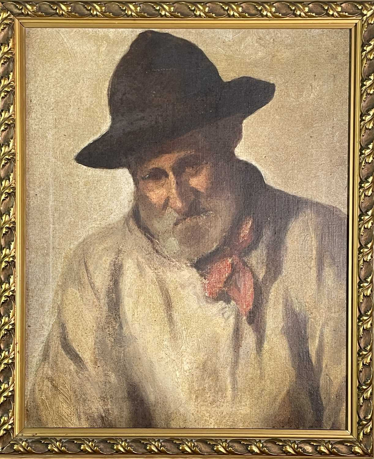 Newlyn SchoolHead of a labourer Oil on board48 x 39cmCondition report: This along with several other - Image 3 of 3