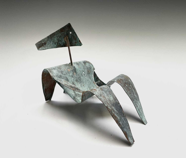 William BLACK (20th Century British)Reclining Figure I Oxidised copper sculpture Signed, inscribed