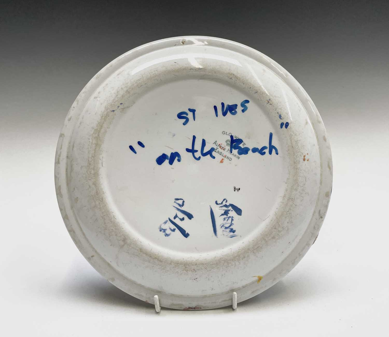 Simeon STAFFORD (1956)On the Beach - St Ives A painted plateSigned, dated and inscribed Diameter - Image 3 of 3