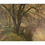 Arthur Bevan COLLIER (1832-1908)River Scene Oil on canvas Signed and dated (18)81?Further signed and