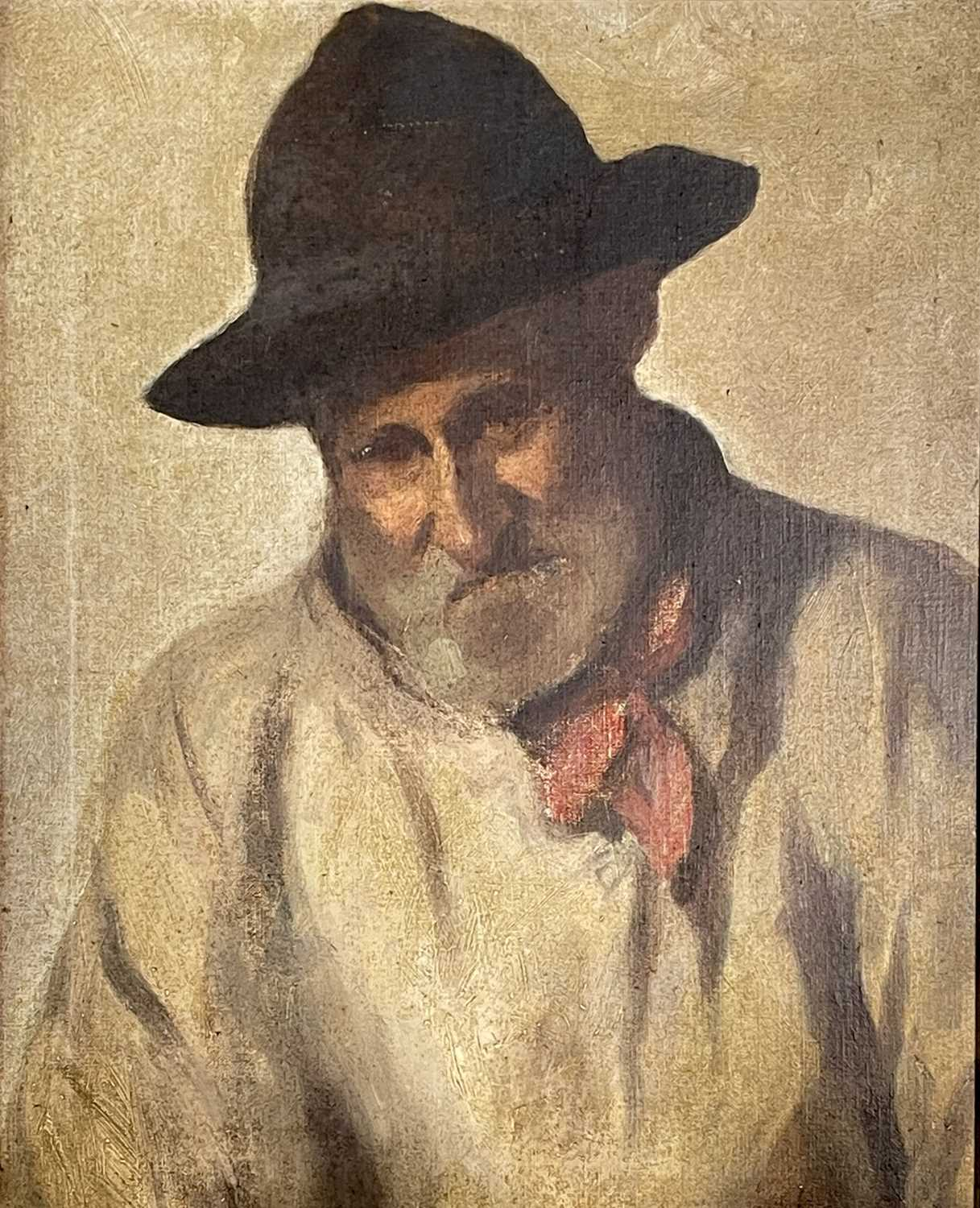 Newlyn SchoolHead of a labourer Oil on board48 x 39cmCondition report: This along with several other