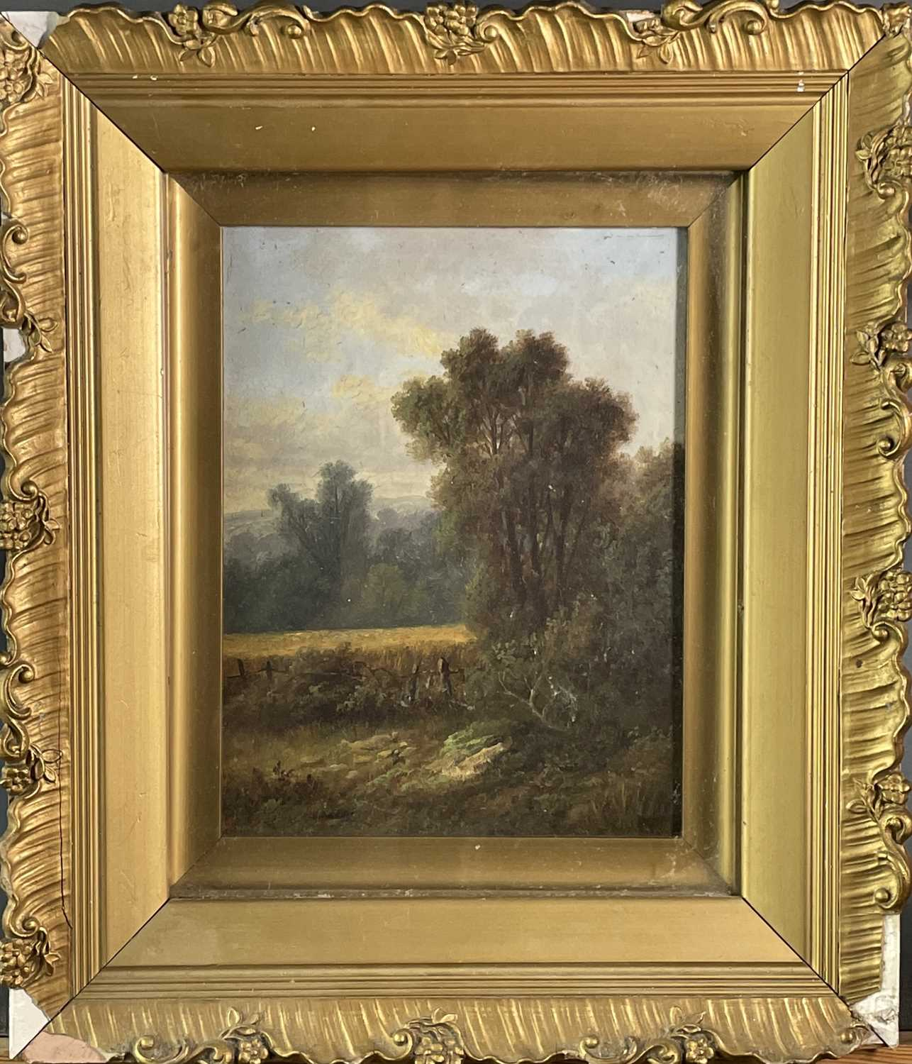 Victorian School A pair of landascapes Oil on canvas Each initialed A. S. 22x17cm - Image 7 of 7