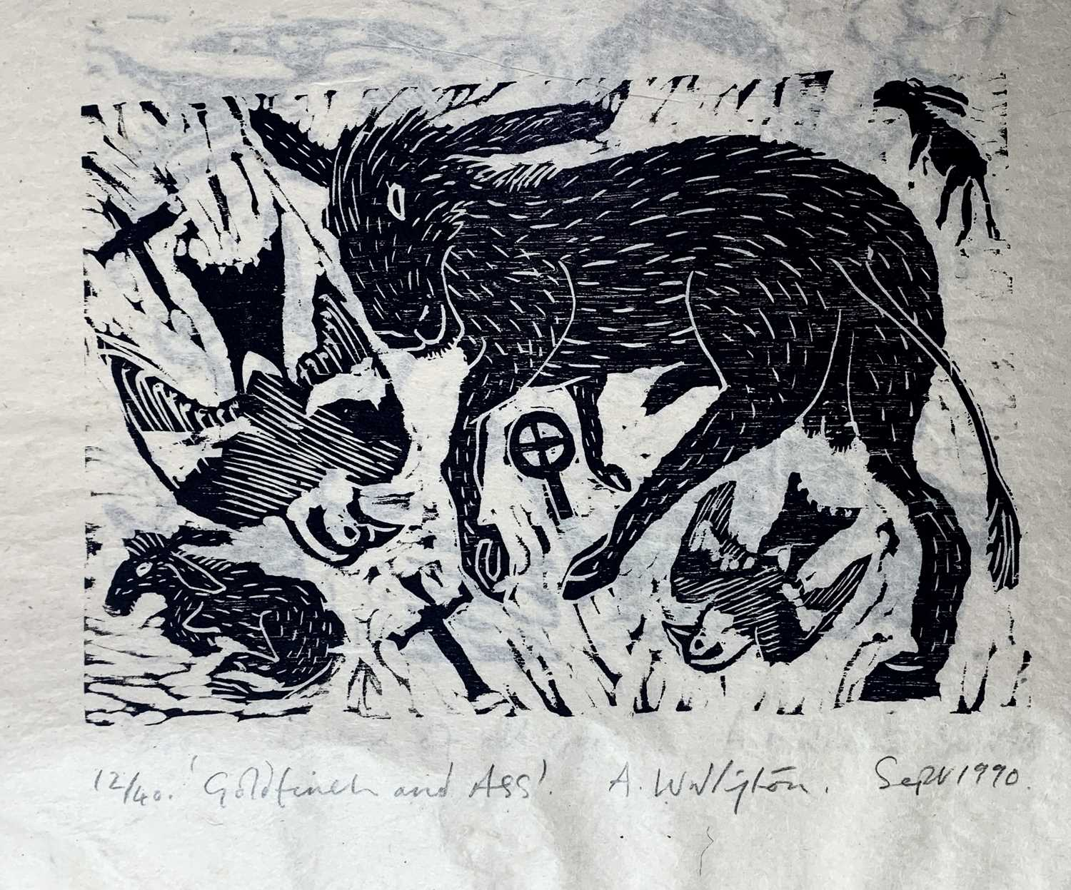 Andrew WADDINGTON God and Goddess A limited edition of four woodcuts 1990 Together in the Hendra - Image 2 of 9