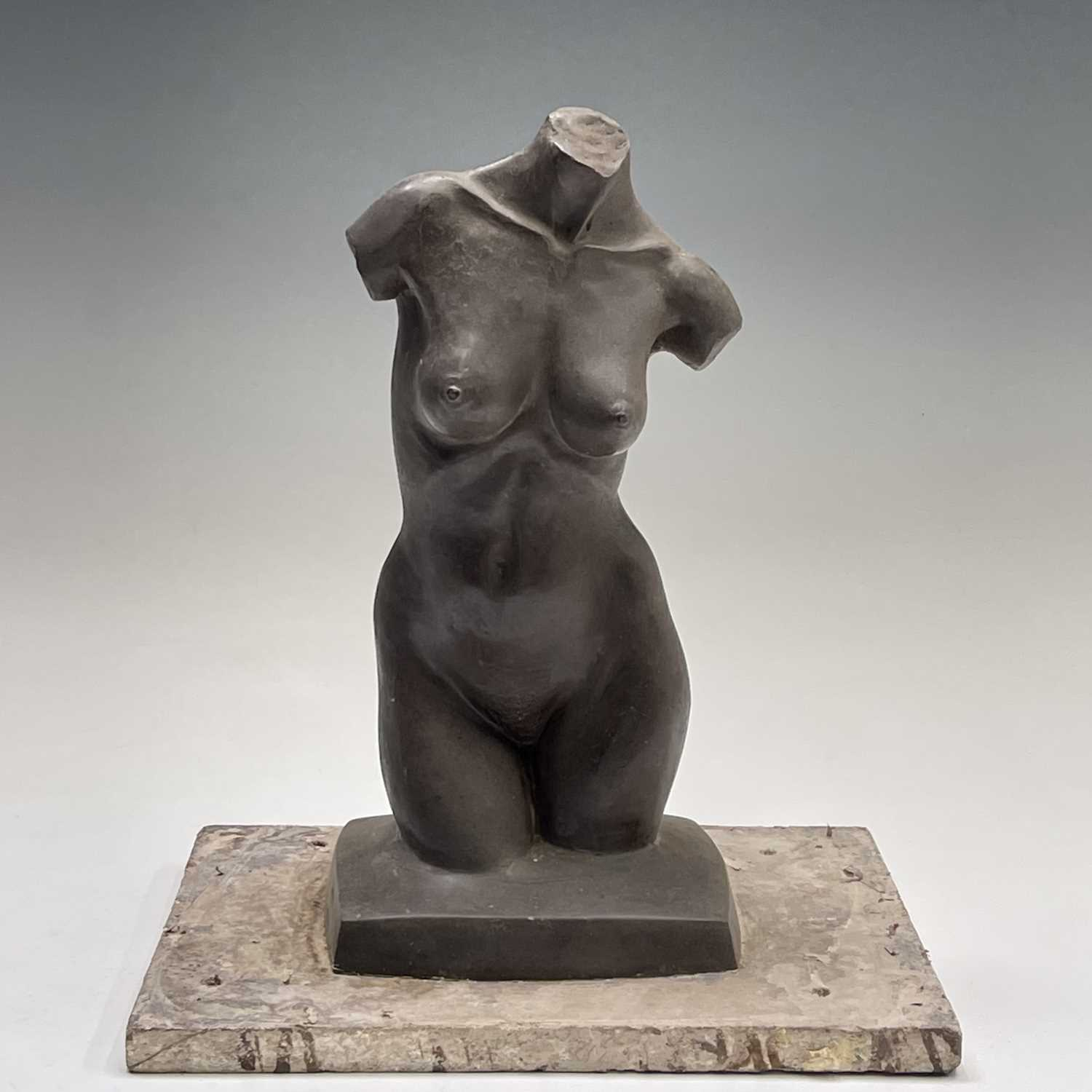 Alec WILES (1924)Female Torso Bronze resin sculpture Signed Height 30cm - Image 2 of 9