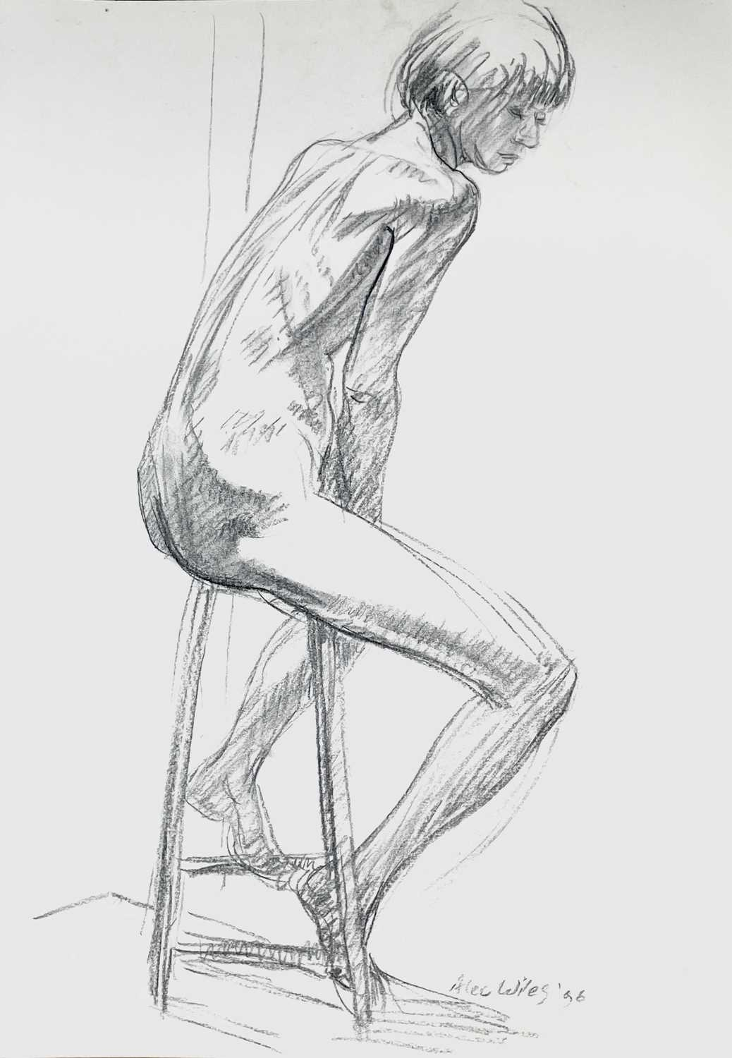 Alec WILES (1924) Nude drawings A collection of thirteen Mostly signed Mostly 60x42 Together with - Image 11 of 46