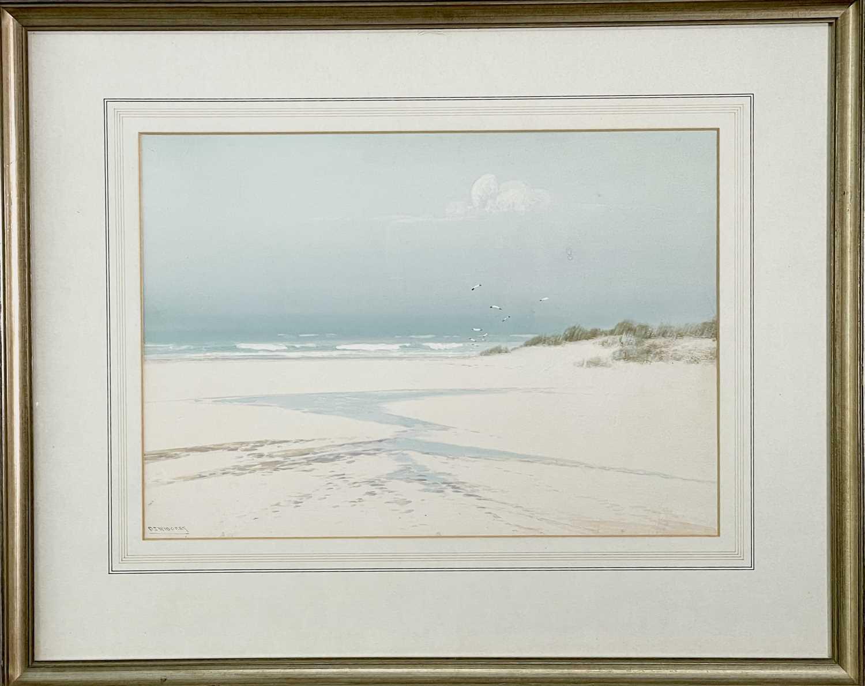 Frederick John WIDGERY (1861-1942) Low Tide Gouache Signed 25x35cm - Image 3 of 3