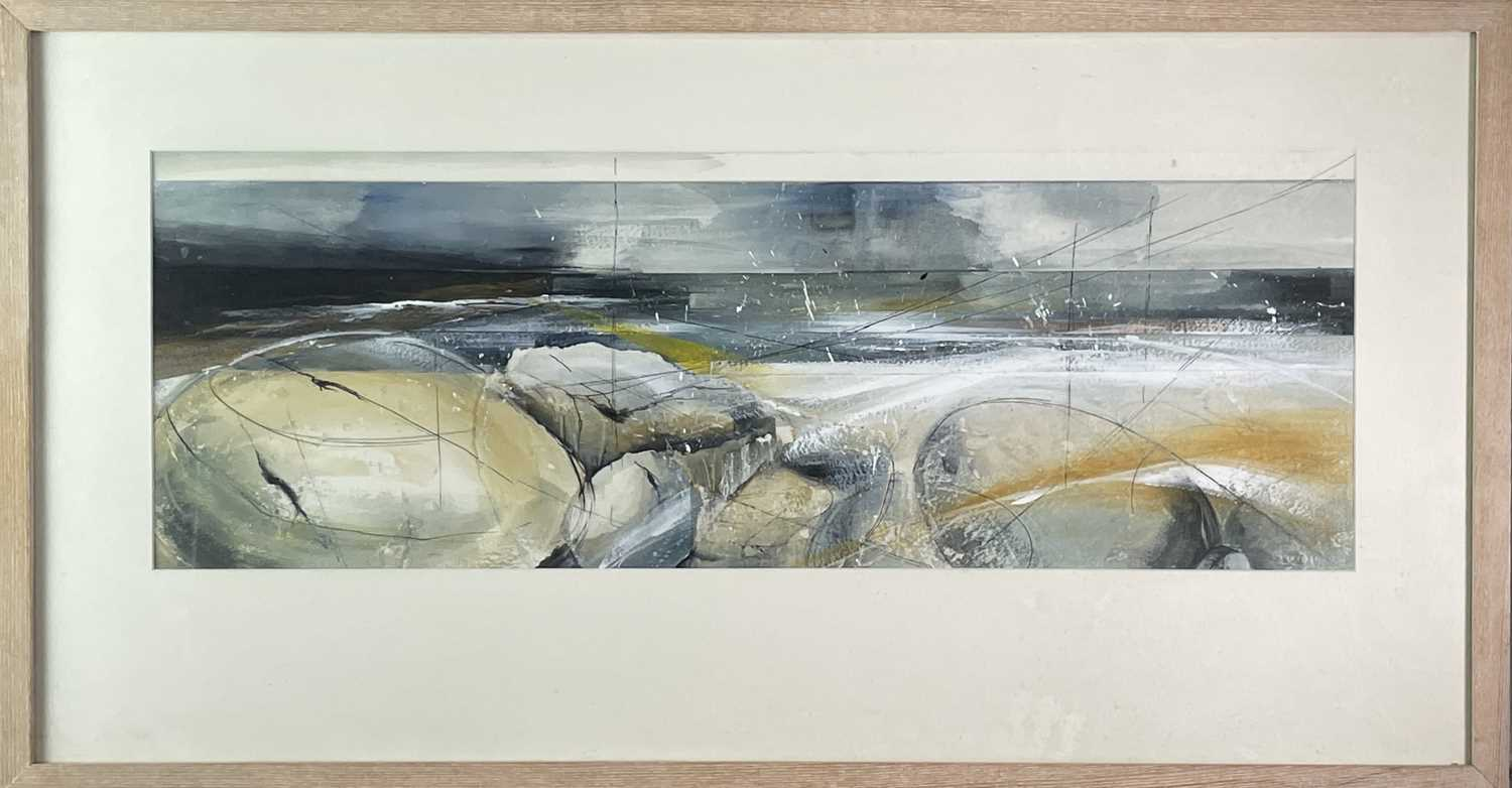 Hannah WOODMAN (1968) 'A Southwest Wind Rippled The Shore' Mixed media Signed and titled to verso 26 - Image 3 of 3