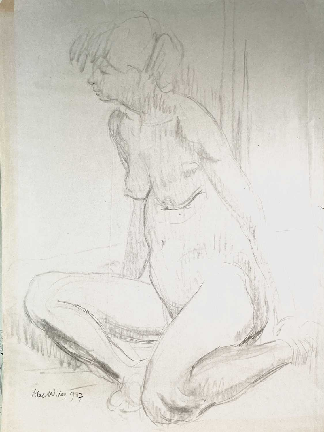 Alec WILES (1924) Nude drawings A collection of thirteen Mostly signed Mostly 60x42 Together with - Image 7 of 46