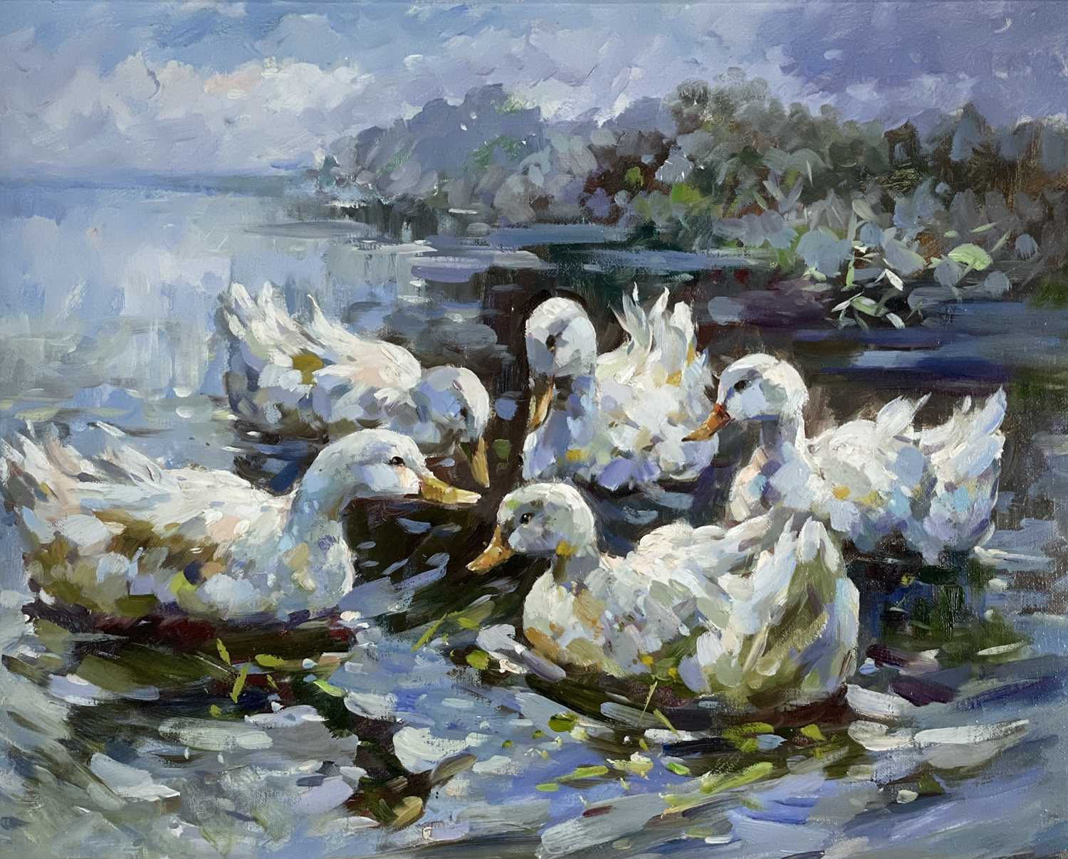 Style of KOESTER Ducks Oil on canvas 40 x 50cm