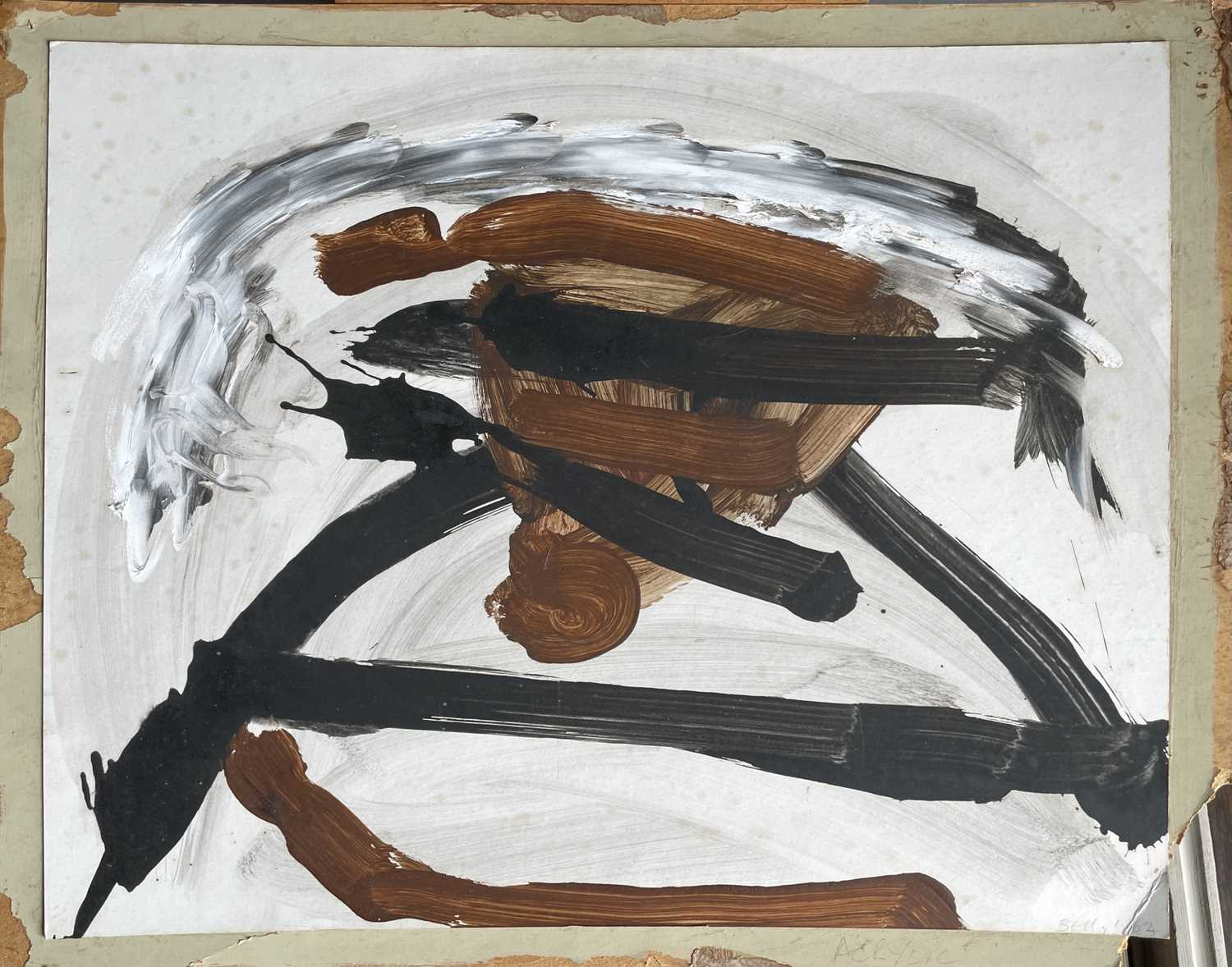 Trevor BELL (1930-2017)Fell Acrylic on card Signed, inscribed and dated '6250.7 x 63.4cmCondition - Image 3 of 3