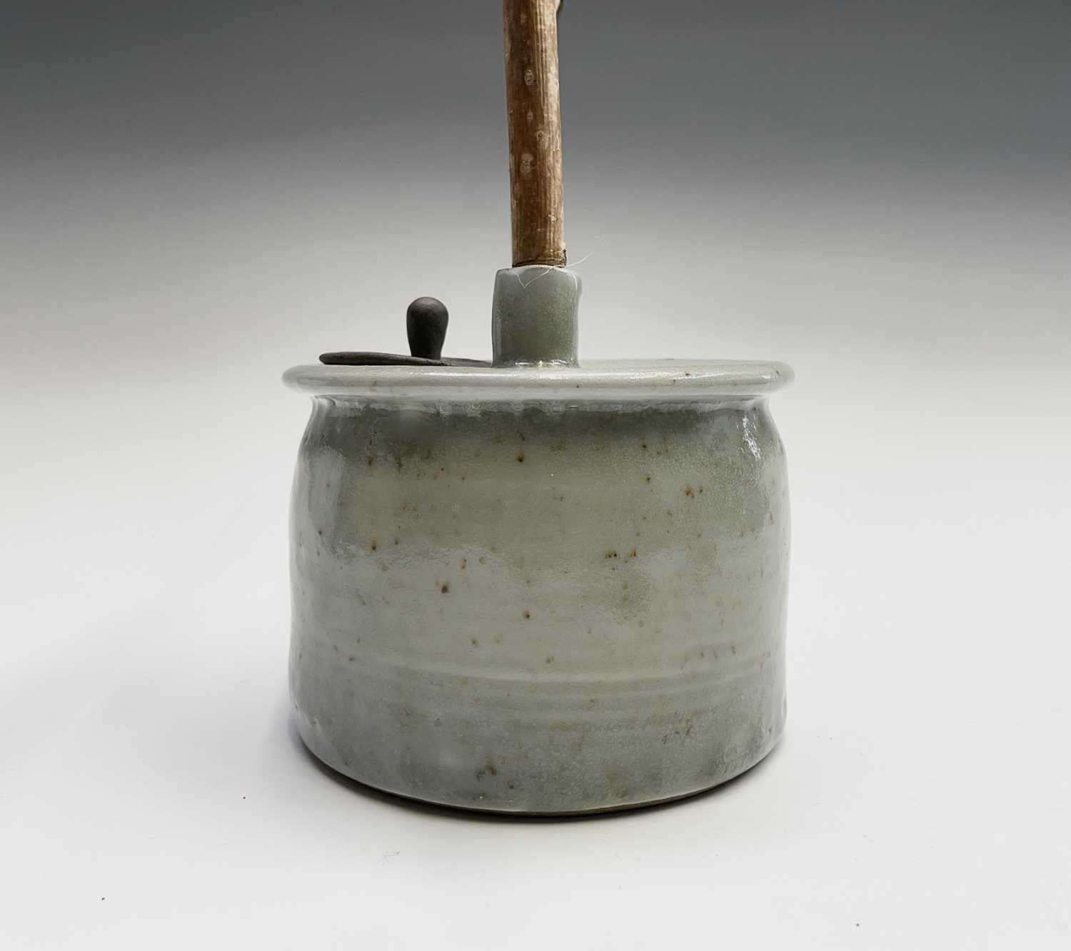 Roger MICHELL (1947-2018)A celadon glazed teapotImpressed makers mark to base, signed in pen and - Image 11 of 15